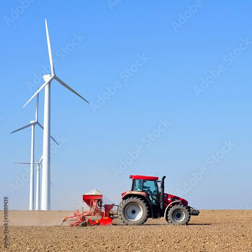 Photo  Landwirtschaft und Industrie / Windräder