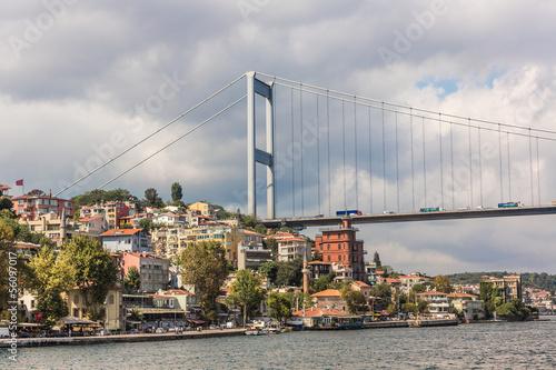 Fototapeta Ataturk Bridge is a first suspension bridge over the Bosphorus S