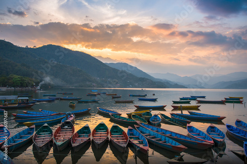 Canvas Prints Nepal Fewa Lake