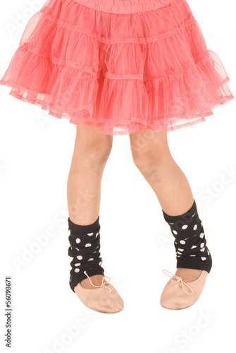 Fotografie, Obraz  Young ballerina photo from the waist down wearing a pink tutu