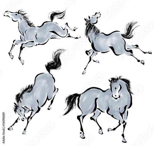 Fototapeta 東洋の馬 obraz