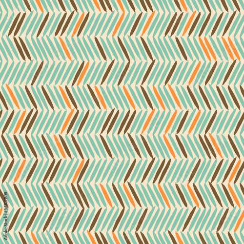 Foto auf Leinwand ZigZag Seamless Chevron Background