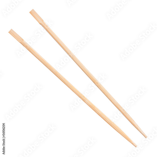 Photo  chopsticks on a white background