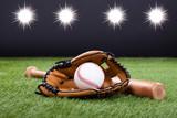 Baseball Rękawica Z Baseballem I Nietoperzem - 56107697