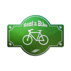 Fototapeta Schild Emaille - Rent a Bike