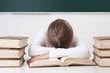canvas print picture - Schülerin leidet unter Stress
