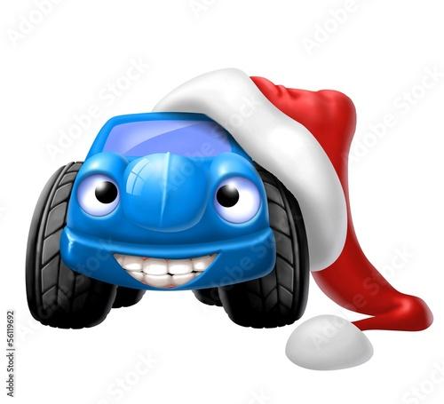 Fotobehang Cars auto natalizia