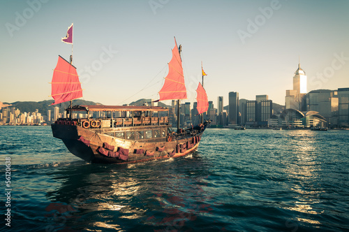Poster Hong-Kong Junk Ship