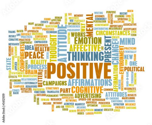 Think Positive Billede på lærred