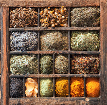Variety Of Indian Spices In A ...