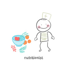 Nutritionist Standing Next To ...
