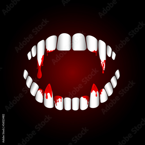 Vampire teeth Canvas Print