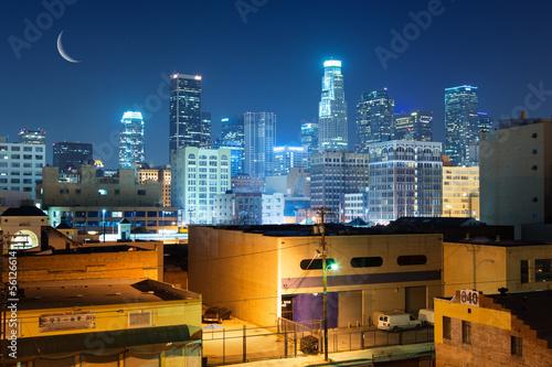 Autocollant - Los Angeles city skyline at night