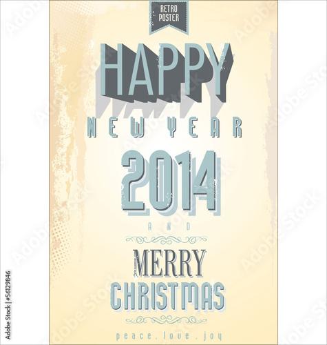 Papiers peints Affiche vintage Vintage style design for New Year