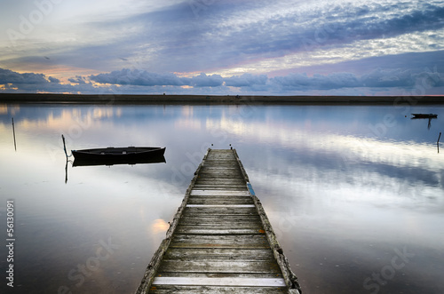 An Old Wooden Jetty Canvas Print
