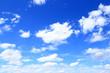 Leinwandbild Motiv 夏の青空と白い雲