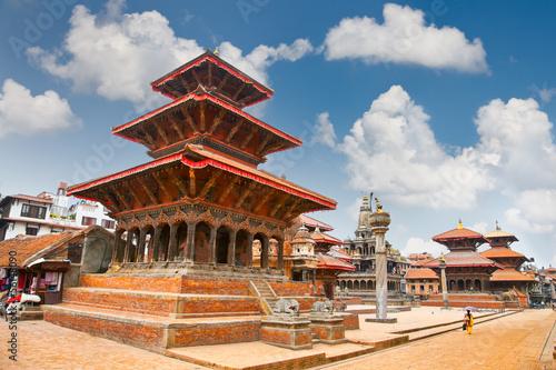 Ingelijste posters Nepal Temples at Durbar Sqaure in Patan, Nepal