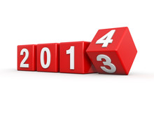 New Year 2014 3d Render