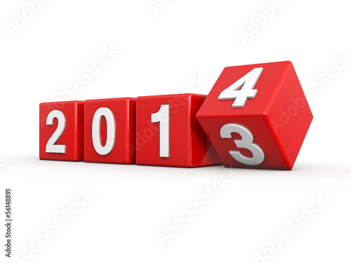 Poster  New year 2014 3d render