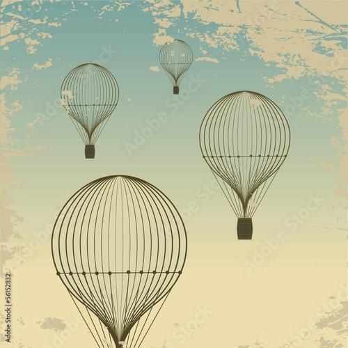retro-gorace-powietrze-balonu-nieba-tla-stara-papierowa-tekstura-zabytkowe