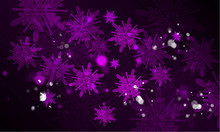 Purple Frost Snow Glowing Background