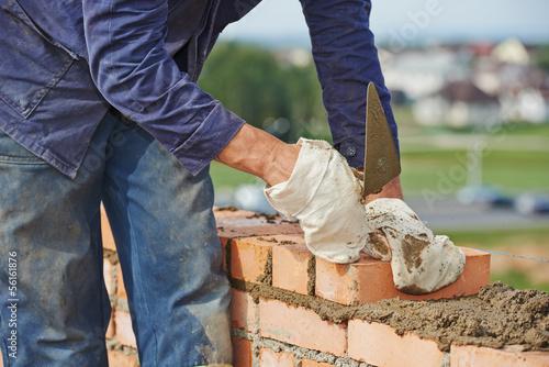 Fotografia construction bricklayer work