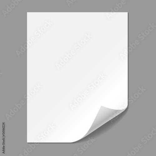 Fotografía  Single Paper Page with Folding Corner