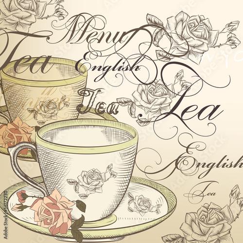 piekny-wektorowy-tlo-z-filizanka-herbata-i-roze-w-roczniku