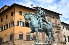 Pomnik Cosimo I De Medici Na Placu Signoria W Florencji, Włochy