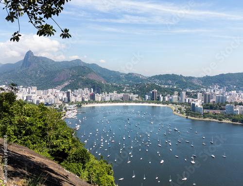 Harbor and skyline of Rio de Janeiro Brazil Poster