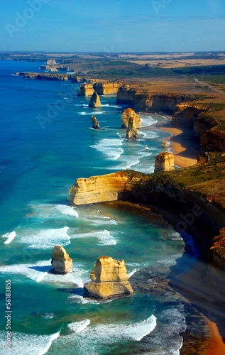 Foto op Plexiglas Australië Aerial view on Twelve Apostles, Great Ocean Road, Australia.