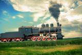 vintage steam train - 56188813