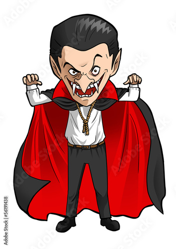 Photographie  Cartoon illustration of a Dracula