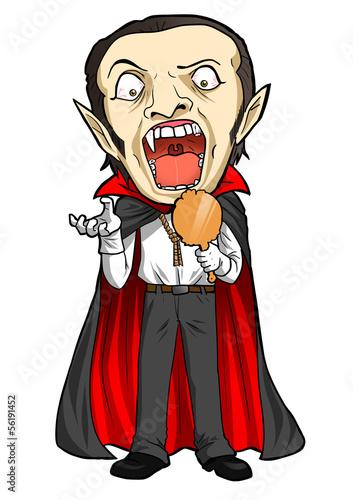 Fototapeta Cartoon illustration of a Dracula obraz