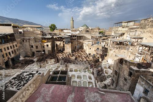 Staande foto Marokko Concerie di Fes