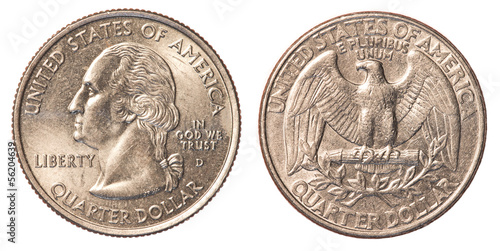 Fotografía  US Quarter coin
