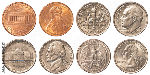 Fotografía  USA circulating coins