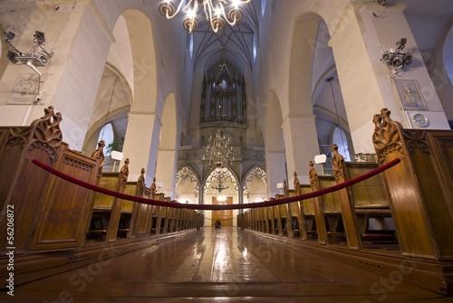 St. Olaf church interior in Tallin, Estonia Poster