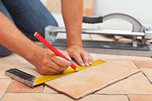 Laying Ceramic Floor Tiles - M...