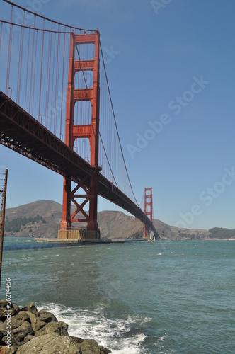 Keuken foto achterwand Art Studio Golden Gate Bridge