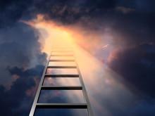 Ladder Into Dramatic Sky