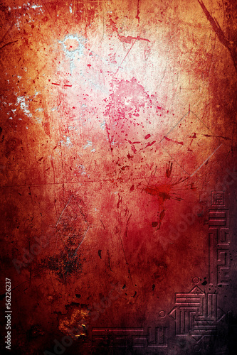Canvas Prints Imagination Old bloody wall