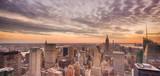Nowy Jork przy zachodzie słońca