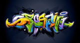 Bright graffiti lettering