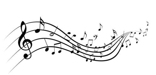 Naklejka music