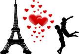 Fototapeta Fototapety Paryż - miłość w Paryżu