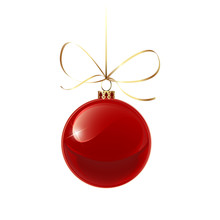 Christmas Red Bauble