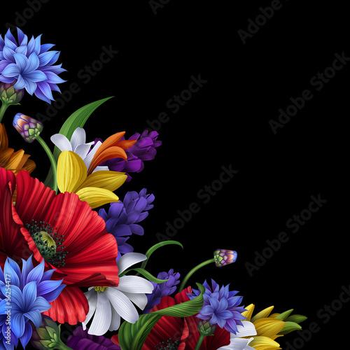 wiazka-wiejscy-kwiaty-ilustracja