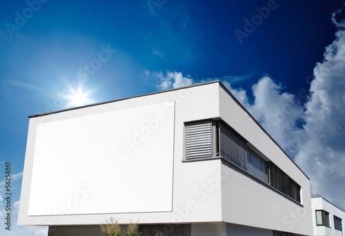 Haus Bauhaus mit Schild плакат