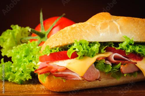 Fotografie, Obraz  Sandwich closeup detail